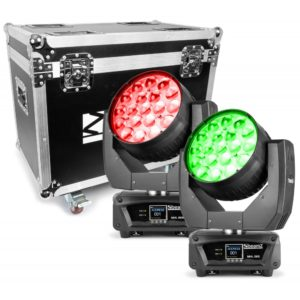 Beamz MHL1915 LED MOVING HEAD 4IN1 2PC IN FLIGHTCASE