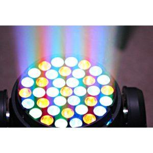 Beamz MHL-373 LED MOVING HEAD 37X 3W RGB 14 CH DMX