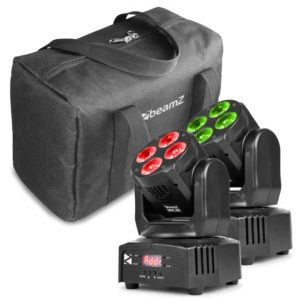 Beamz MHL-36 MOVING HEAD SET 4x 9W 4-in-1 2 PIECES IN BAG