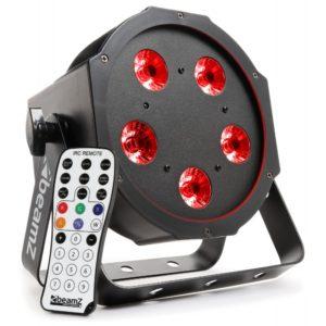 Beamz BFP120 LED PAR 56 FLATPAR 5x 8W RGBW LEDs DMX IRC