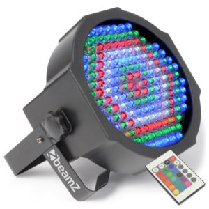 Beamz LED PAR 64 FLATPAR 154 X 10MM RGBW IR DMX