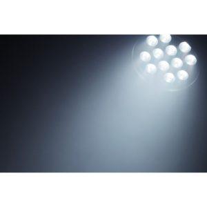 Beamz BPP200 LED PAR 64 12x 18W RGBAWUV LEDS HEXA IR DMX