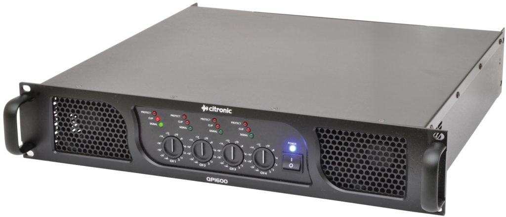 Citronic QP1600 QUAD POWER AMPLIFIER 4 x 400W