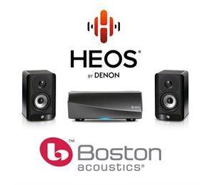 HEOS AMP & Boston A23 Bookshelf