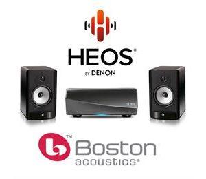 HEOS AMP & Boston A26 Bookshelf
