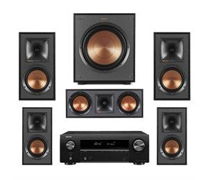 Klipsch R-51M and Denon AVRX550BT 5.1 Surround System